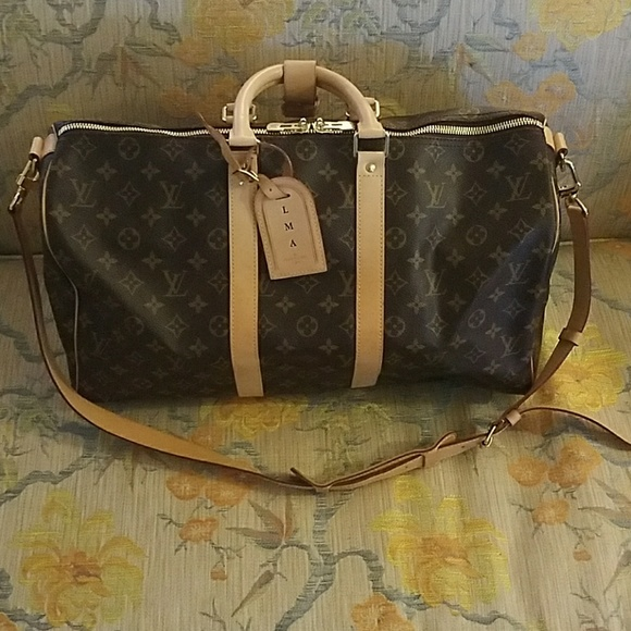 fa051ea63572 Louis Vuitton Mens Carry All Weekend Bag Model 45